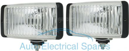 171452 RECTANGULAR Fog Lamps x 2 ( 1 PAIR )